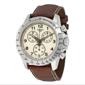 NWT TISSOT V8 Chronograph Ivory Dial Men's Watch